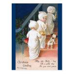 Ellen H. Clapsaddle: Christmas Toddler Girls Post Card
