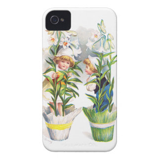 Ellen H. Clapsaddle: Easter Flower Children Case-Mate iPhone 4 Cases