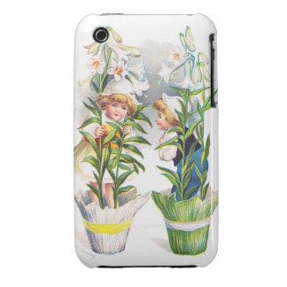 Ellen H. Clapsaddle: Easter Flower Children iPhone 3 Case-Mate Case