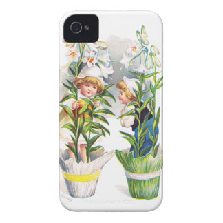 Ellen H. Clapsaddle: Easter Flower Children iPhone 4 Case-Mate Case