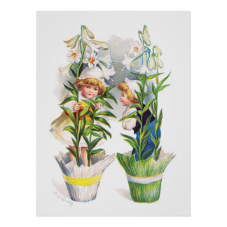Ellen H. Clapsaddle: Easter Flower Children Poster