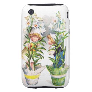 Ellen H. Clapsaddle: Easter Flower Children Tough iPhone 3 Cover
