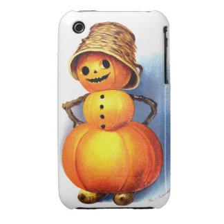 Ellen H. Clapsaddle: Funny Pumpkin Character iPhone 3 Case-Mate Cases