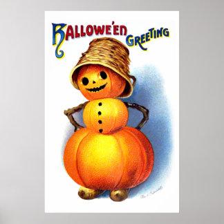 Ellen H. Clapsaddle: Funny Pumpkin Character Posters