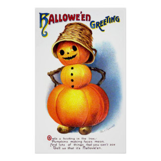 Ellen H. Clapsaddle: Funny Pumpkin Character Poster