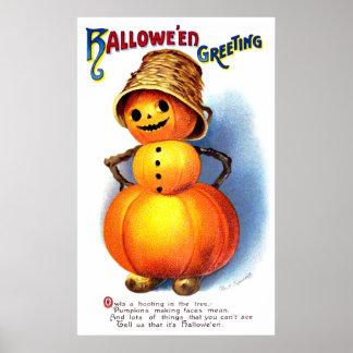 Ellen H. Clapsaddle: Funny Pumpkin Character Poster