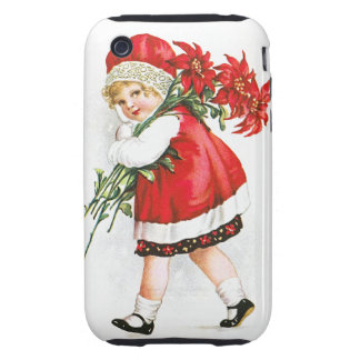 Ellen H. Clapsaddle: Girl with Christmas Flowers iPhone 3 Tough Cover