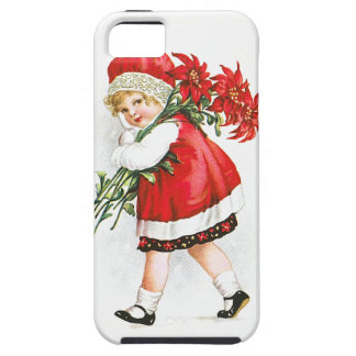Ellen H. Clapsaddle: Girl with Christmas Flowers iPhone 5 Case