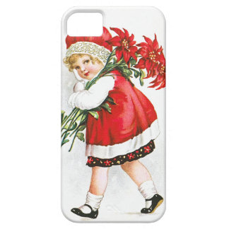 Ellen H. Clapsaddle: Girl with Christmas Flowers iPhone 5 Cases
