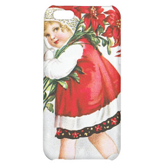 Ellen H. Clapsaddle: Girl with Christmas Flowers Case For iPhone 5C