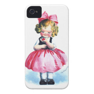Ellen H. Clapsaddle: Girl with Heart Case-Mate iPhone 4 Cases