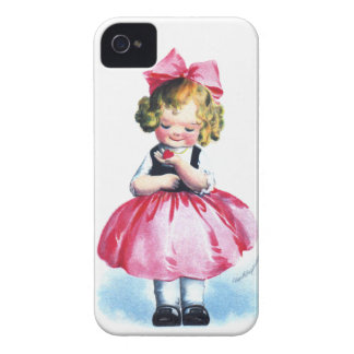 Ellen H. Clapsaddle: Girl with Heart iPhone 4 Case-Mate Cases