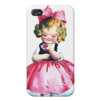 Ellen H. Clapsaddle: Girl with Heart iPhone 4/4S Cases