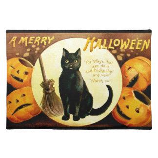 Ellen H. Clapsaddle: Halloween Cat Placemat
