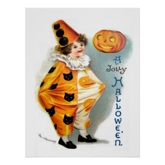 Ellen H. Clapsaddle: Halloween Harlequin Print