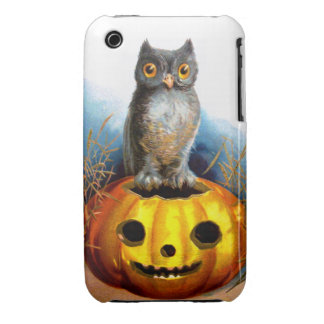 Ellen H. Clapsaddle: Halloween Owl Case-Mate iPhone 3 Case