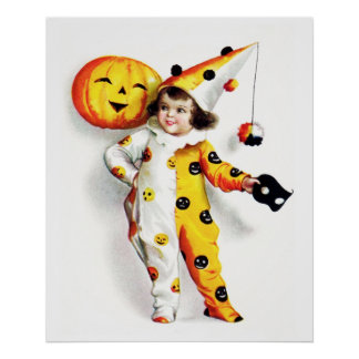 Ellen H. Clapsaddle: Little Halloween Harlequin Poster