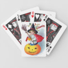 Ellen H. Clapsaddle: Little Pumpkin Witch Bicycle Playing Cards