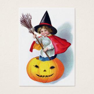 Ellen H. Clapsaddle: Little Pumpkin Witch Business Card