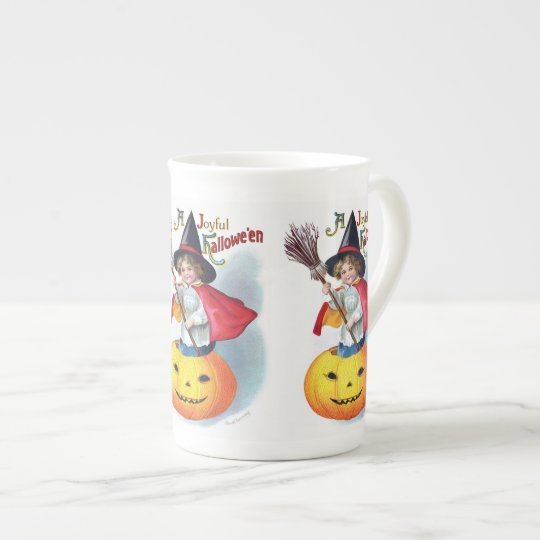 Ellen H. Clapsaddle: Little Pumpkin Witch Tea Cup