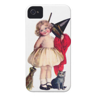 Ellen H. Clapsaddle: Little Witch with Cat iPhone 4 Cases