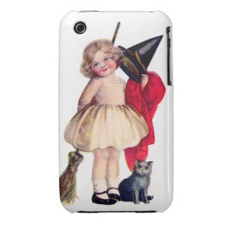 Ellen H. Clapsaddle: Little Witch with Cat iPhone 3 Cover