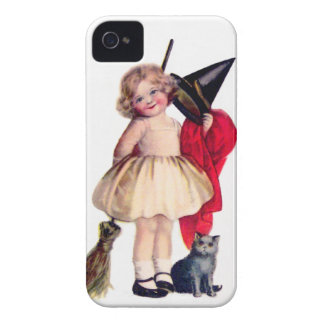 Ellen H. Clapsaddle: Little Witch with Cat iPhone 4 Cover