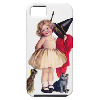 Ellen H. Clapsaddle: Little Witch with Cat iPhone 5 Covers