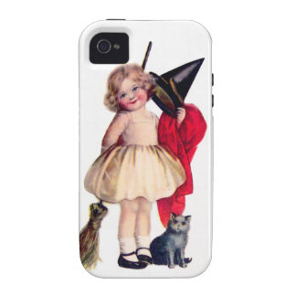 Ellen H. Clapsaddle: Little Witch with Cat Vibe iPhone 4 Covers