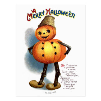 Ellen H. Clapsaddle: Pumpkin Boy Postcard