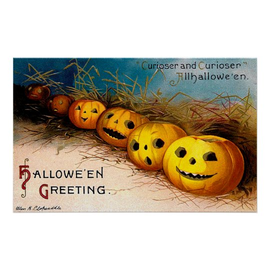 Ellen H. Clapsaddle: Pumpkin Row Poster