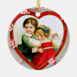 Ellen H. Clapsaddle: Secret in my Heart Round Ceramic Decoration