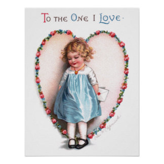 Ellen H. Clapsaddle: To The One I Love Poster
