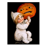 Ellen H. Clapsaddle: Toddler with Pumpkin Post Card