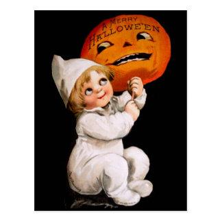Ellen H. Clapsaddle: Toddler with Pumpkin Postcard