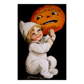 Ellen H. Clapsaddle: Toddler with Pumpkin Print