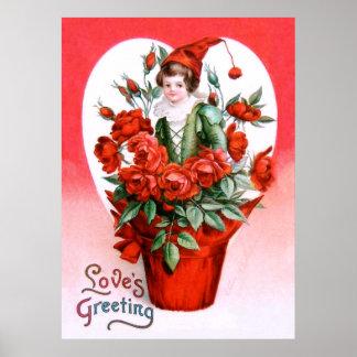 Ellen H. Clapsaddle: Valentine Roses Poster