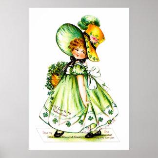 Ellen H. Clapsaddle: Valentine Shamrock Queen Poster