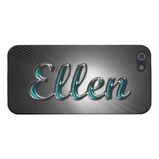Ellen name in Turquoise and Silver Printed iPhone 5 Cases