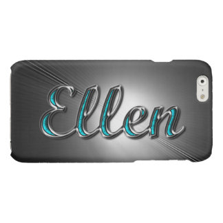 Ellen name in Turquoise and Silver Printed iPhone 6 Plus Case