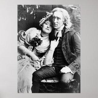 Ellen Terry & Henry Irving - Vicar of Wakefield Print