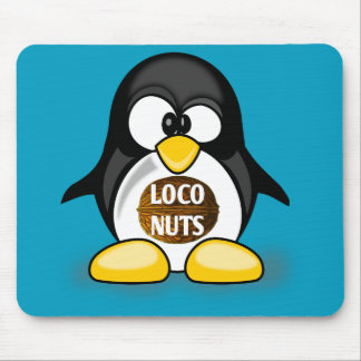 Ellen the Loco Nuts Penguin Mousepad