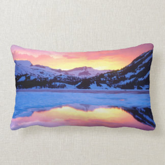 Ellery Lake at Sunset Lumbar Cushion