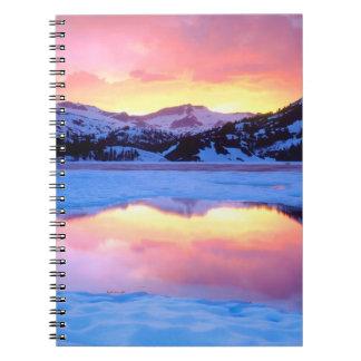 Ellery Lake at Sunset Notebook