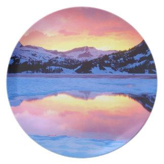 Ellery Lake at Sunset Plate