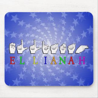ELLIANAH  FINGERSPELLED ASL SIGN NAME MOUSEPADS