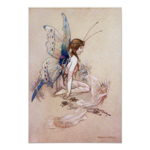 Ellie Gets Her Wings by Warwick Goble Poster