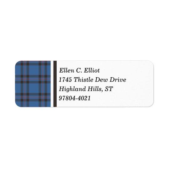 Elliot Clan Blue and Brown Scottish Tartan