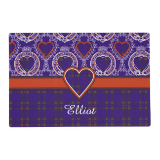 Elliot clan Plaid Scottish tartan Laminated Place Mat