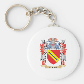Elliot Coat of Arms - Family Crest Basic Round Button Key Ring